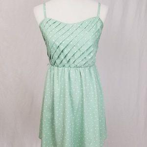 LC Lauren Conrad Mint Polkadot Mini Dress
